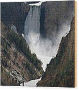 Lower Yellowstone Falls 02 Wood Print