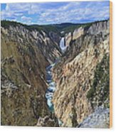 Lower Yellowstone Falls Panorama Wood Print
