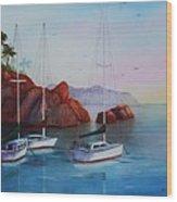 Lowered Sails Wood Print