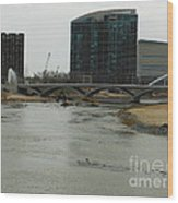 Lowhead Dam Removal Columbus Ohio Usa 14 Wood Print