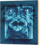 Lowland Gorilla Wood Print