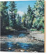 Lowry Creek Run Wood Print by Mike Worthen