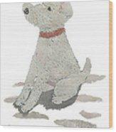 Lakeland Terrier Art Hand-torn Newspaper Collage Art Pet Portrait Wood Print