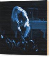 Ls Spo #79 Crop 2 In Blue Wood Print