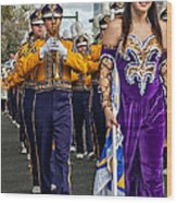 Lsu Marching Band 5 Wood Print by Steve Harrington