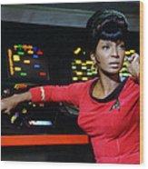 Lt Uhura Wood Print