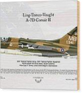 Ltv Ling Temco Vought A-7d Corsair II Wood Print