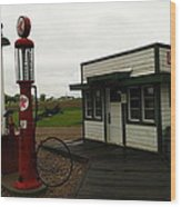 Lubrication Center Hardin Montana Wood Print by Jeff Swan