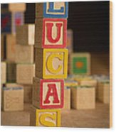 Lucas - Alphabet Blocks Wood Print