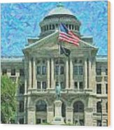 Lucas County Court House Wood Print