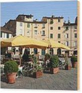 Lucca Piazza Del Mercato  Wood Print