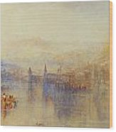 Lucerne From The Lake Wood Print