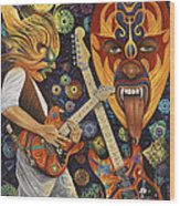 Lucha Rock Wood Print