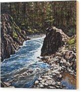 Lucia Falls Downstream Wood Print