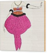 Lucile - Design For A Dress Wood Print