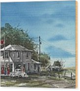 Lucille's On Route 66 Wood Print