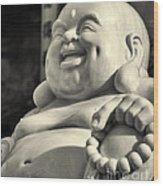 Lucky Buddha Wood Print