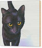 Lucky Cat Wood Print