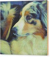 Lucky Dog's Life Wood Print