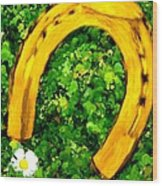 Lucky Wedding Horse Shoe Wood Print