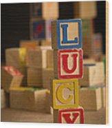 Lucy - Alphabet Blocks Wood Print