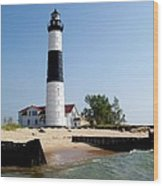 Ludington Michigan's Big Sable Lighthouse Wood Print