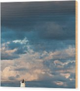 Ludington North Breakwater Lighthouse At Sunrise Wood Print