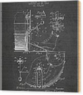 Ludwig Foot Pedal Patent Drawing From 1909 - Dark Wood Print
