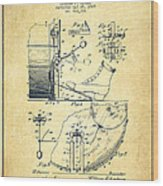 Ludwig Foot Pedal Patent Drawing From 1909 - Vintage Wood Print