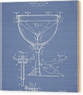 Ludwig Kettle Drum Drum Patent Drawing From 1941 - Light Blue Wood Print