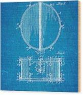 Ludwig Snare Drum Patent Art 1912 Blueprint Wood Print