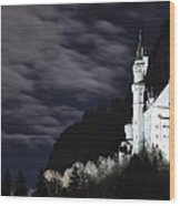 Ludwig's Castle At Night Wood Print