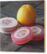 Luffa Red And Pink Soap Wood Print