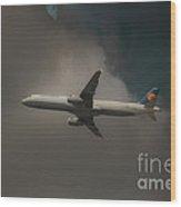 Lufthansa A320 Airbus Wood Print