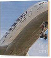 Lufthansa Airbus A-380 Wood Print