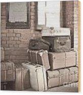 Luggage Cases Wood Print