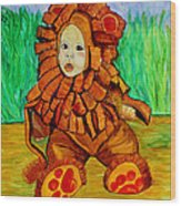 Lukas The Lion Wood Print