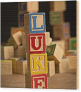 Luke - Alphabet Blocks Wood Print
