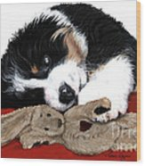 Lullaby Berner And Bunny Wood Print