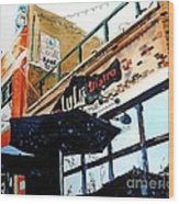Lulu Asian Bistro Wood Print by Tom Riggs