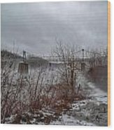 Lumberville Bridge Bucks County Wood Print