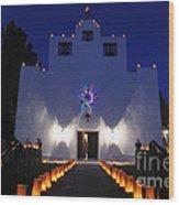 Luminarias At St Francis De Paula Wood Print