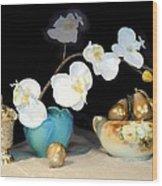 Luminous Watercolor Orchids Wood Print