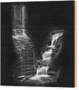 Luminous Waters Iv Wood Print