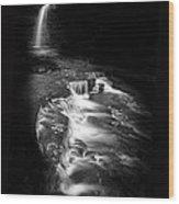 Luminous Waters Vi Wood Print