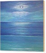 Luna Del Mar Wood Print
