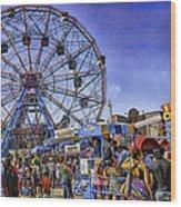 Luna Park 2013 - Coney Island - Brooklyn - New York Wood Print