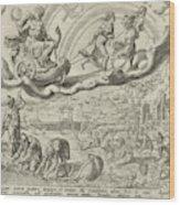 Luna, The Moon, And Her Children, Harmen Jansz Muller Wood Print