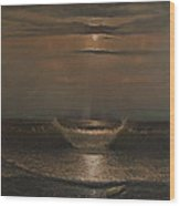Lunar Apparition Wood Print