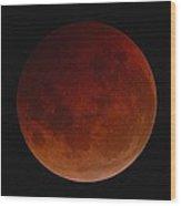 Lunar Eclipse Wood Print